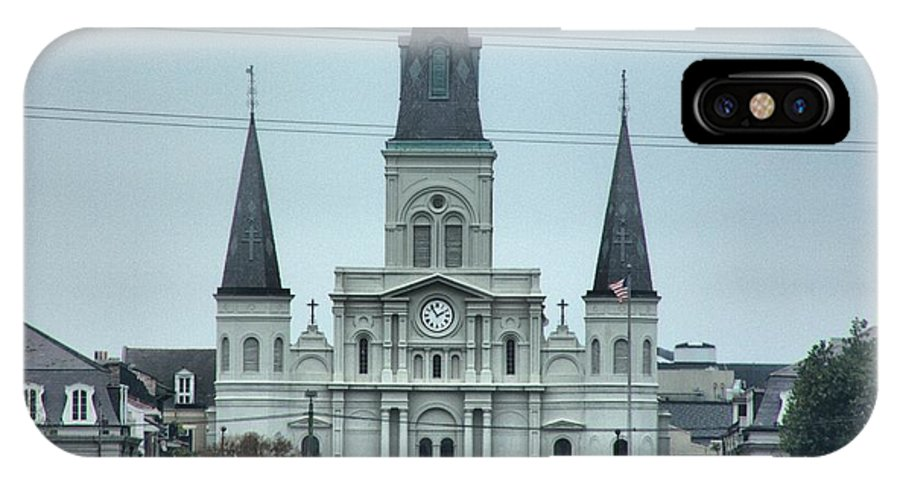 St.louis Cathedral IPhone X Case featuring the photograph The St.louis Cathedral by Anthony Walker Sr