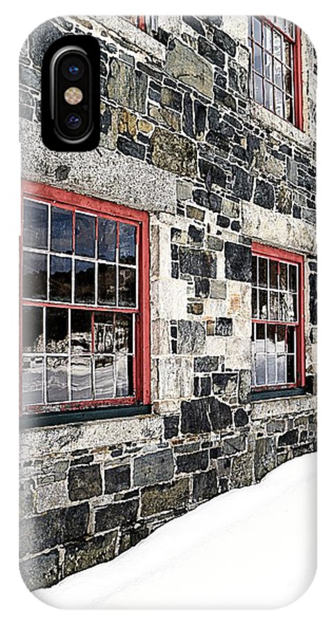 Barn IPhone X Case featuring the photograph The Stone Mill At The Enfield Shaker Museum by Edward Fielding
