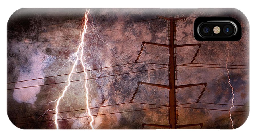 Blue IPhone X Case featuring the photograph The Storm Is Upon Us by Jim Finch