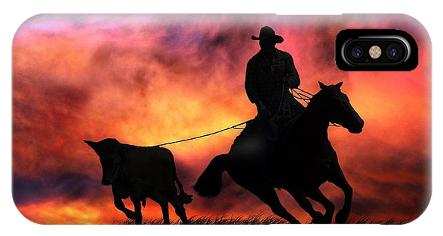Western IPhone X Case featuring the photograph The Stray by Stephanie Laird