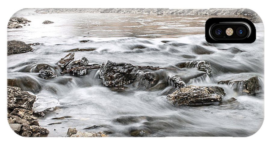 Landscape IPhone X Case featuring the photograph The Stream by Chris Stowell