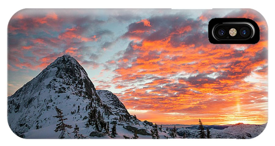 Winter IPhone X Case featuring the photograph The Sun Rises, Illuminating The Sky by Christopher Kimmel