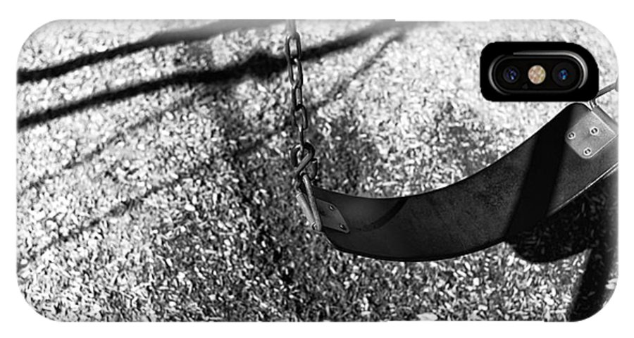 The Swing IPhone X Case featuring the photograph The Swing Mono by John Rizzuto