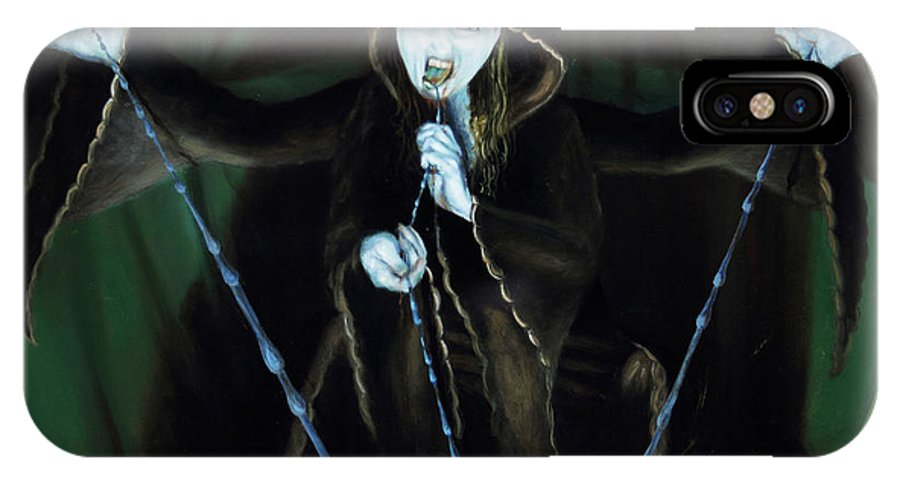 Shelley Irish IPhone X Case featuring the painting The Taker by Shelley Irish