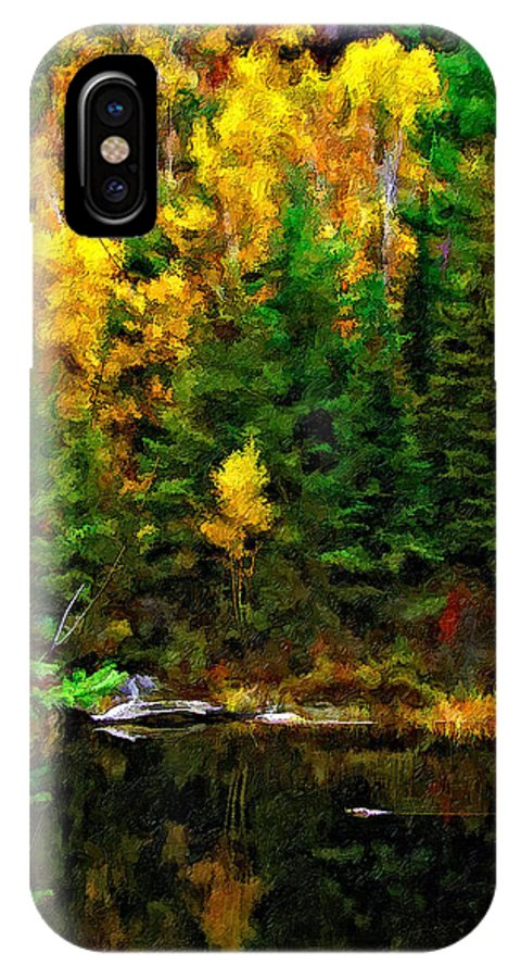 Wilderness IPhone X Case featuring the photograph The Tarn Paint Version by Steve Harrington