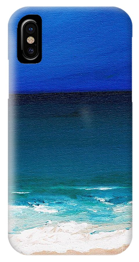 Seashore IPhone X Case featuring the painting The Tide Coming In by Frances Marino