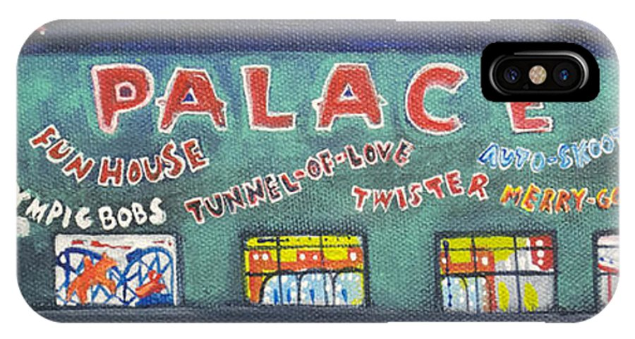 Tillie Of Asbury Park IPhone X Case featuring the painting The Tiny Tiny Palace by Patricia Arroyo