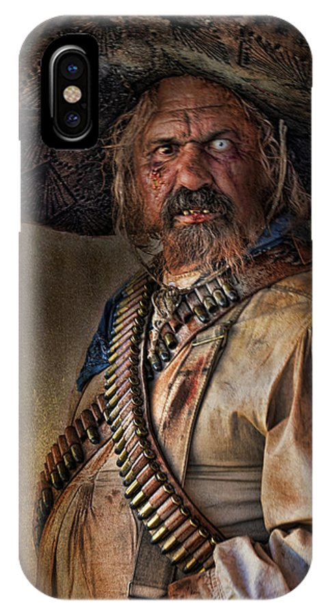 Man IPhone X / XS Case featuring the photograph The Tombstone Bandito by Barbara Manis