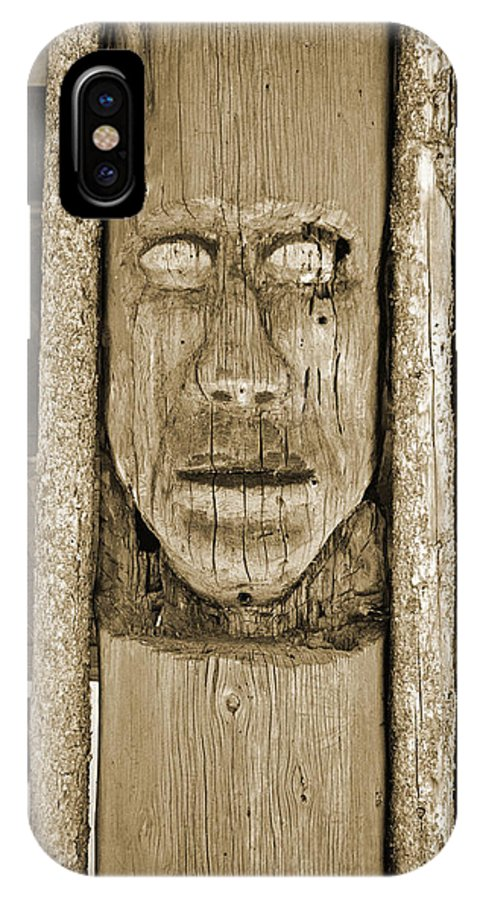 Ancient IPhone X Case featuring the photograph The Totem by Holly Blunkall