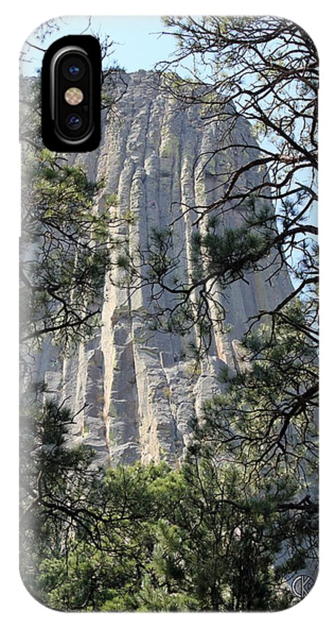 Devil's Tower IPhone X / XS Case featuring the photograph The Tower Of The Devil by Clayton Kelley