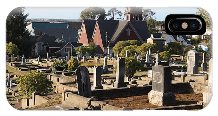Graveyards IPhone X Case featuring the photograph The Town's Passed Residents by Richard Mortimer