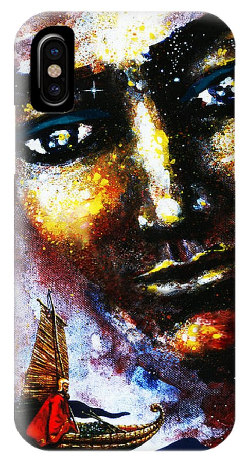 The Traveller IPhone X Case featuring the painting The Traveller by Hartmut Jager