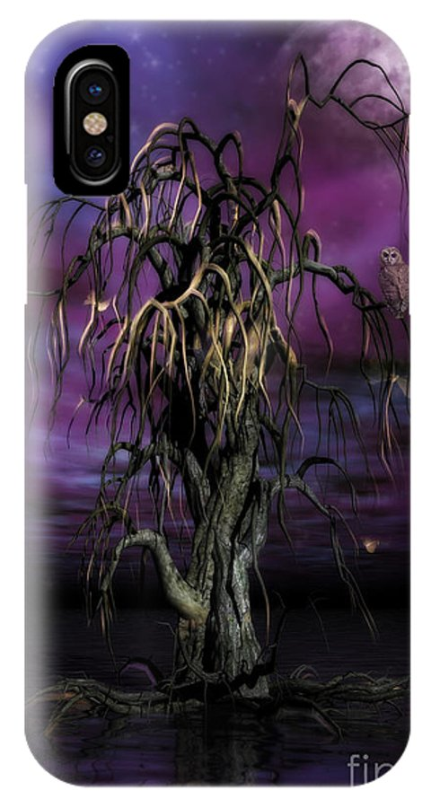 Tree Of Souls IPhone X Case featuring the painting The Tree Of Sawols by John Edwards