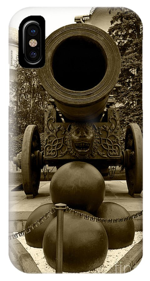 Cannon IPhone X Case featuring the digital art The Tsar Cannon by Pravine Chester
