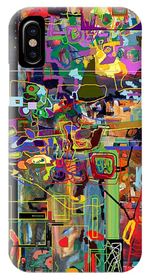 Torah IPhone X Case featuring the digital art The Tzaddik Lives On Emunah 3 by David Baruch Wolk