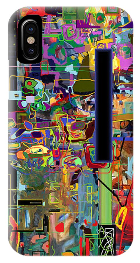 Torah IPhone X Case featuring the digital art The Tzaddik Lives On Emunah 6 by David Baruch Wolk