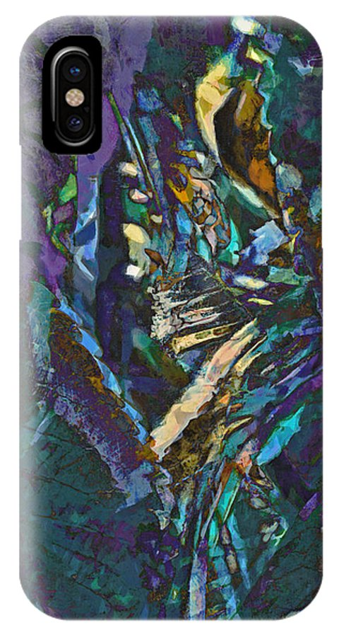 Underworld IPhone X Case featuring the digital art The Underworld by Steve Taylor