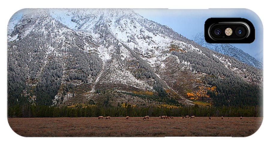 Teton National Park IPhone X Case featuring the photograph The Valley Floor by Jim Garrison