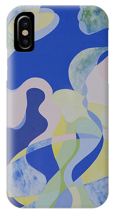 Rhythm IPhone X Case featuring the painting The Veil by Gillian Cronin