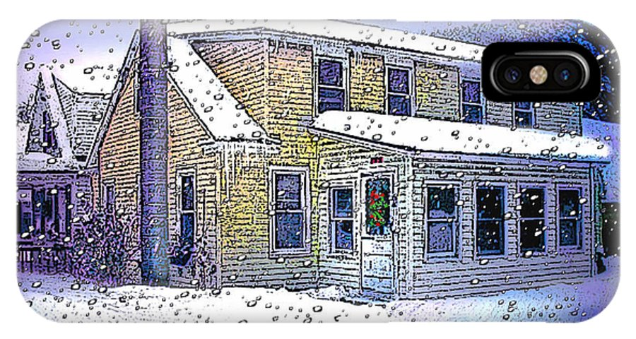 Vermont IPhone X / XS Case featuring the digital art The Vermont Homestead by Nancy Griswold
