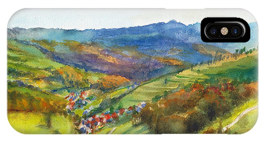 Germany IPhone X Case featuring the painting The Village Of Wieden In The Black Forest by Dai Wynn