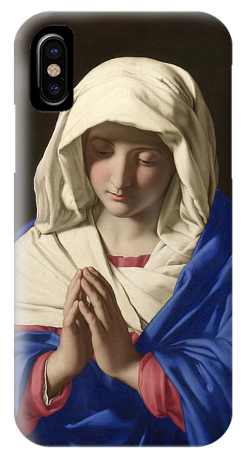 Sassoferrato IPhone X / XS Case featuring the painting The Virgin In Prayer by Sassoferrato