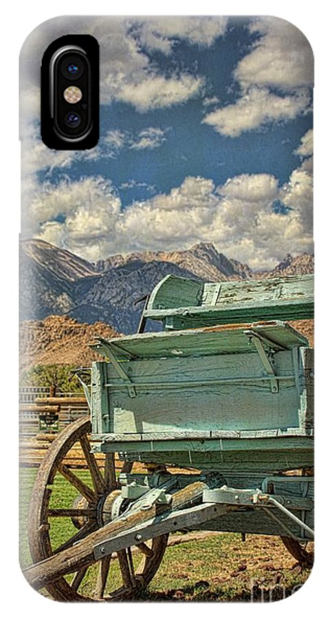 Old IPhone X Case featuring the photograph The Wagon by Peggy Hughes