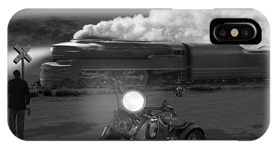Transportation IPhone X Case featuring the photograph The Wait - Panoramic by Mike McGlothlen