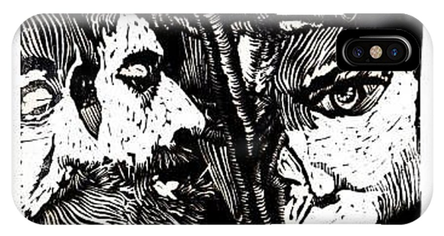 Spectators At The Crucifiction Of Jesus Christ IPhone X Case featuring the relief The Watchers Of Death by Seth Weaver