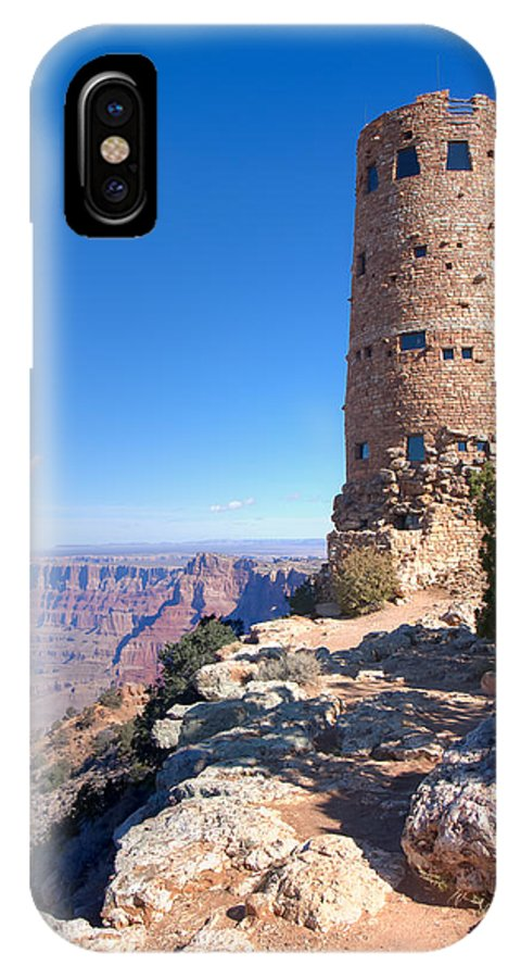 Grand Canyon National Park IPhone X Case featuring the photograph The Watchtower by John M Bailey