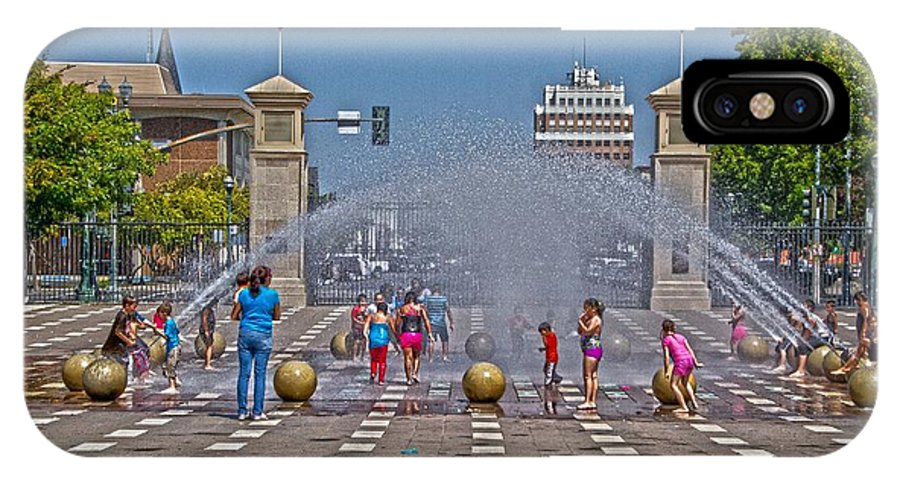 The Watrfront IPhone X Case featuring the photograph The Waterfront by Miguel Uribe