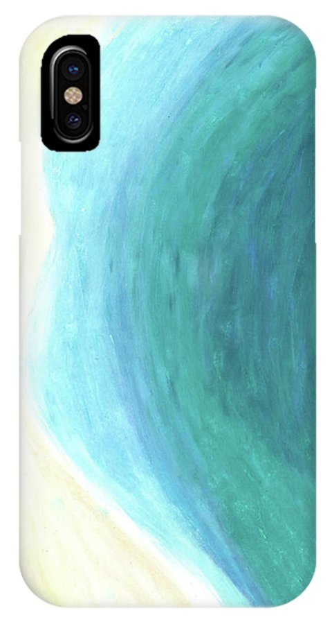 Ocean IPhone X Case featuring the painting The Waters Edge by Carrie MaKenna