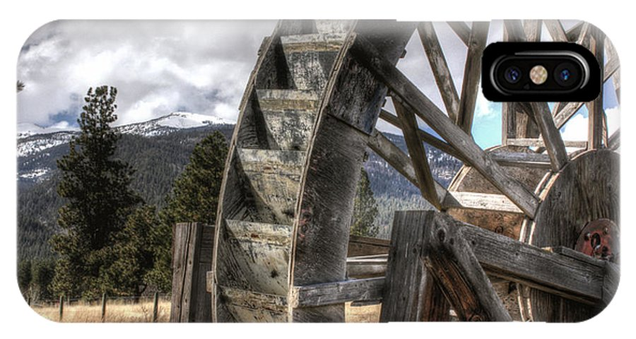 Waterwheel IPhone X Case featuring the photograph The Waterwheel by Michael Winn