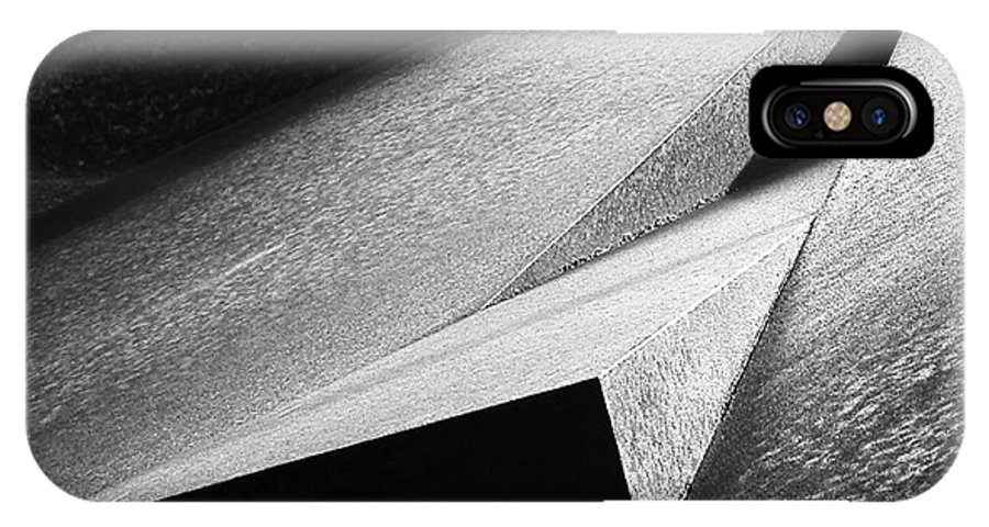 Sculpture Detail IPhone X / XS Case featuring the photograph The Wedge by Paul Eggermann