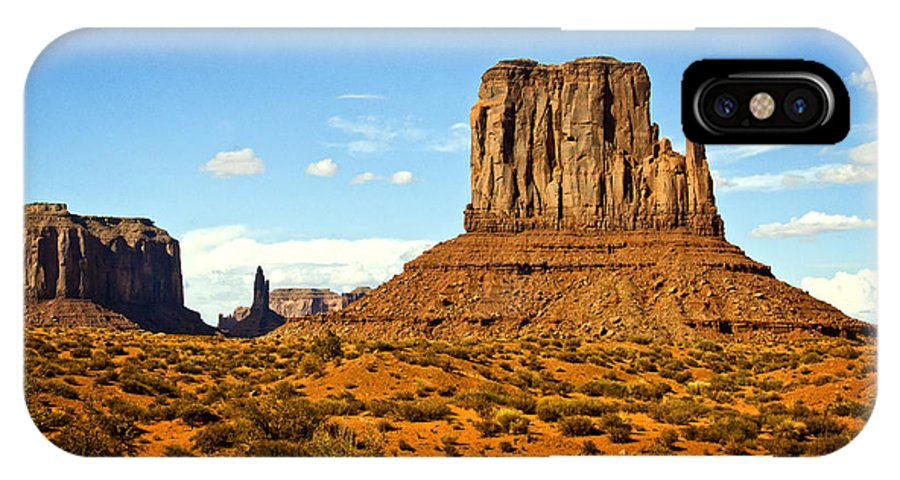 Monument Valley IPhone X Case featuring the photograph The West Mitten by Saija Lehtonen
