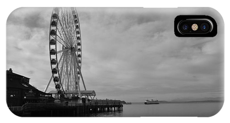 Ferris Wheel IPhone X Case featuring the photograph The Wheel And The Ferry by Kirt Tisdale
