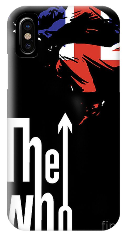The Who IPhone X Case featuring the digital art The Who No.01 by Geek N Rock