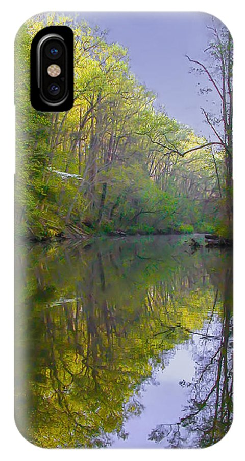 The IPhone X Case featuring the photograph The Wissahickon Creek In The Morning by Bill Cannon