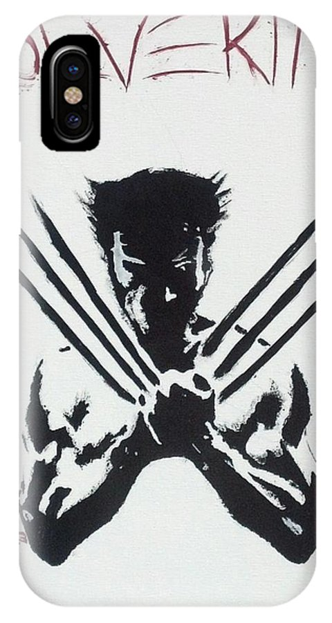 Wolverine IPhone X Case featuring the painting The Wolverine by Troy Woolley