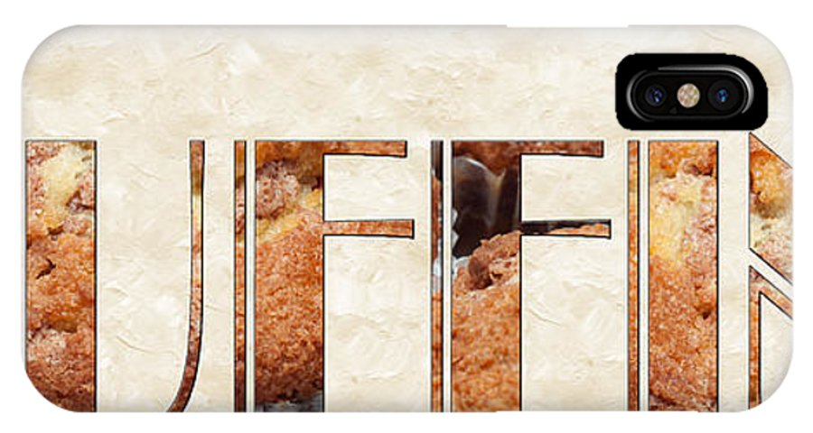 Food IPhone X Case featuring the photograph The Word Is Muffins by Andee Design