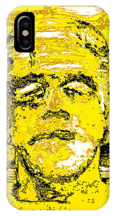 Digital IPhone X Case featuring the digital art The Yellow Monster by Alys Caviness-Gober