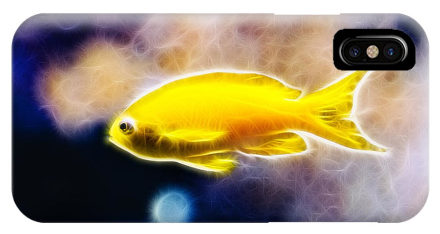 Fish IPhone X Case featuring the photograph The Yellow Submarine by Pati Photography