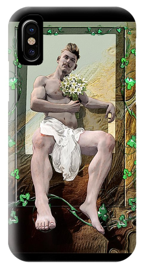 Hipster IPhone X Case featuring the painting The Young Lover by Quim Abella
