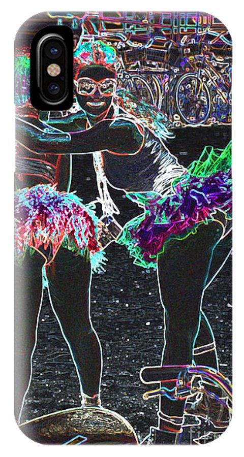 Beach Scene IPhone X Case featuring the digital art Thebikeride by Art Mantia