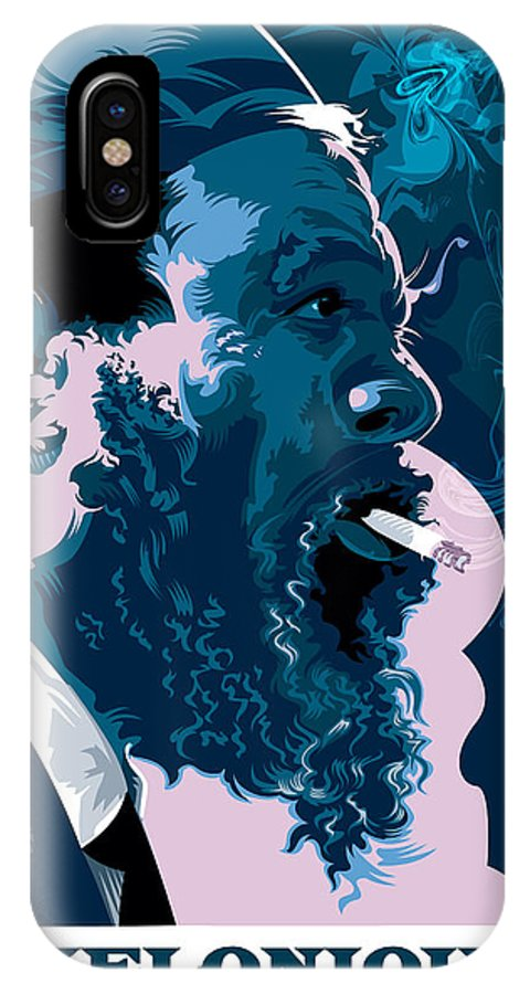 Thelonious Monk Portrait IPhone X / XS Case featuring the painting Thelonious Monk by Garth Glazier