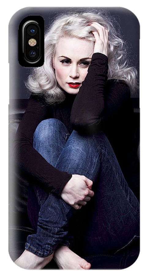 Woman IPhone X Case featuring the photograph Thinking About You by Dawn Gilfillan