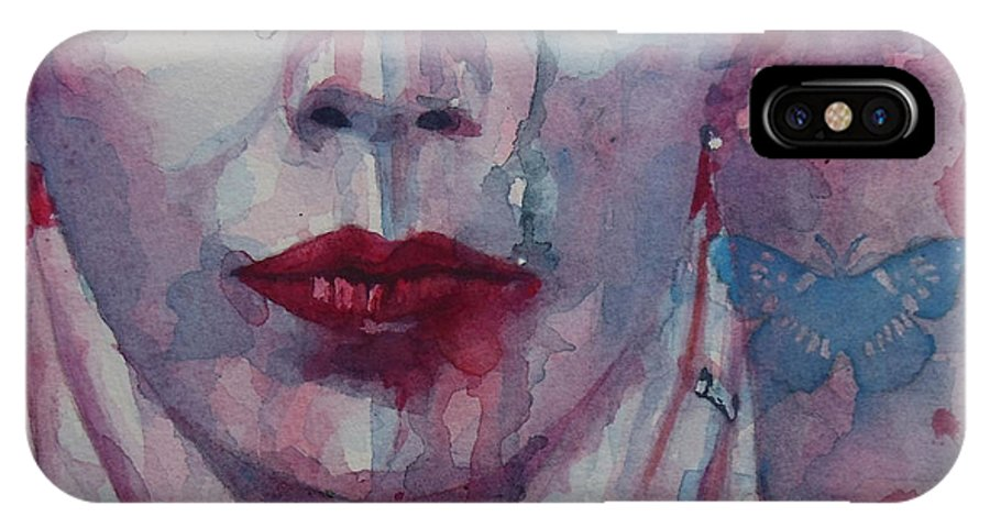 Annie Lennox IPhone X Case featuring the painting This Is The Fear This Is The Dread These Are The Contents Of My Head by Paul Lovering