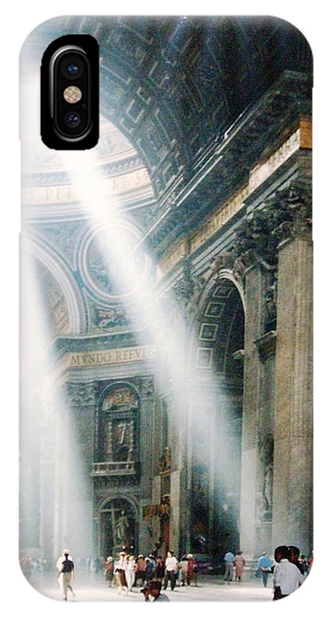 Cathedral IPhone X Case featuring the painting This Needs No Further Title by Bruce Combs - REACH BEYOND