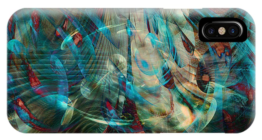 Thoughts In Motion IPhone X Case featuring the digital art Thoughts In Motion by Linda Sannuti