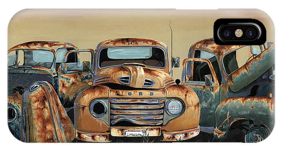Truck IPhone X Case featuring the painting Three Amigos by John Wyckoff